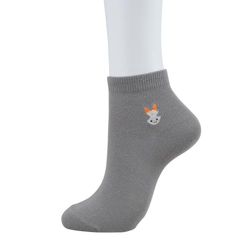 Pokemon Center Socks for Women 23-25 cm 1 Pair Short socks Sobble Charcoal Gray